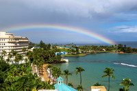 Old San Juan Rainbow as seen from The Caribe Hilton
