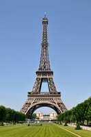 Eiffel Tower on a sunny day.